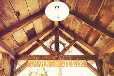 signs homemade ranch wedding.