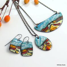 Colorful Desert Colors Jewelry Collection Copper by WillOaksStudio