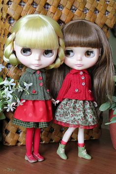 Such cute outfits, loving the red clogs!