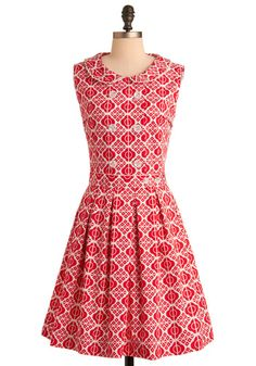 Red-y for Tea Dress, #ModCloth ... love this dress! Hoping to get it!