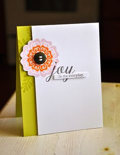 Simply Stamped edge notch card