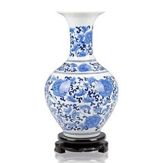 ceramic blue white porcelain vase