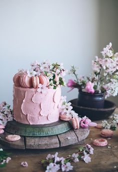 soft iced pink cake