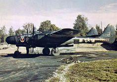 P-61 Black Widow 'Tabitha' of USAAF 425th Night Fighter Squadron at RAF Scorton, England, mid-1944.