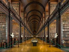 The Long Room an early 18th century university library in Trinity College Dublin Ireland [9000  6796]