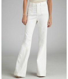 Paige Denim Roxie Capri Mid Rise Skinny Stretch White Jeans SZ 26