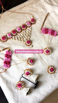 To get one for yourself or for your friends & relatives kindly contact 8107332862 Flower Jewellery For Haldi, Indian Wedding Jewelry, Bridal Jewelry, Flower Jewelry, Gota Patti Jewellery, Pinterest Jewelry, Bride Accessories, Jewelry Patterns, Making Ideas