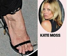Attractive Celebs and Very Unattractive Feet - why wear the glam shoes if you are killing your feet - www.meanfeet.co.uk
