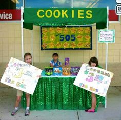 Girl Scout Cookie Booth inspiration