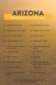 Your Essential Arizona Bucket List // Local Adventurer az arizona bucketlist usa localadventurer travel 187743878202454365 Arizona Road Trip, Arizona Travel, Cool Places To Visit, Places To Travel, Travel Destinations, New Orleans, Monument Park, Lower Antelope Canyon, Le Zoo