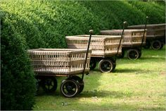 Basket wagons.