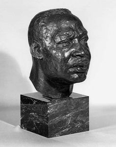 A 1970 bronze sculpture of Martin Luther King by Charles Alston from the National Portrait Gallery is on loan to the White House. Photo courtesy of the museum