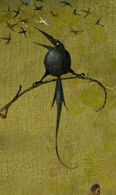 detail from hieronymus bosch, the garden of earthly delights, 1490 - 1510 Hieronymus Bosch, Hans Baldung Grien, Pieter Bruegel The Elder, Arte Tribal, Garden Of Earthly Delights, Geometric Drawing, Rabe, Dutch Painters, Magritte