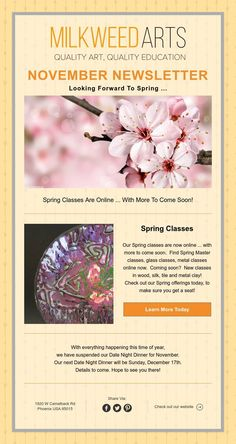 Spring Classes Are Online . New Class, Looking Forward, November, Spring, Art, November Born, Art Background, Kunst, Performing Arts