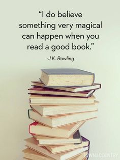 Book Quotes J. Rowling, Harry Potter one of my favorites Literature is life Book Of Life, The Book, Picture Of A Book, Wonderful Picture, I Love Books, Books To Read, Big Books, Blogging, Quotes For Book Lovers