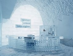 The Absolut Bar in the IceHotel, Sweden: Every year there's a new Absolut Vodka-sponsored bar!
