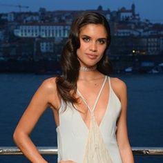 Sara Sampaio posing during the Gala da Douro Azul in Porto