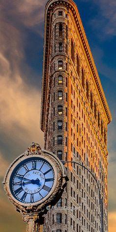 Flatiron clockwork, USA, Manhattan, Madison Square, Broadway, building, original fine art photography, living room decor, office decor de la boutique PhilipDumPhotography sur Etsy