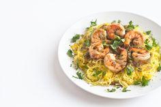 Roasted Spaghetti Squash and Shrimp Pasta-16