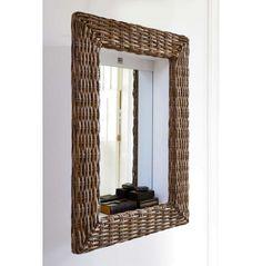 Rustic Rattan Shadow Mirror 62x86 | Rivièra Maison