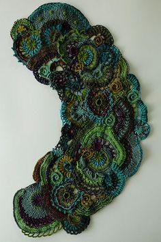 Free Form #Crochet Collar: Inspiration!