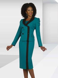 This is a listing of all the Designer Collection of Women's Church Suits with Matching Hats, Church Dresses, Career Wear, Special Occasion, and Men's Suits. Office Outfits Women, Summer Outfits Women, Summer Fashions, Woman Outfits, Sunday Church Outfits, Church Attire, Church Suits, Dresses For Teens, Club Dresses