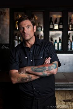 Chuck Hughes! My favorite Cooking Channel Chef! Love hiiiiimmmm! Hilarious. Tatted. Tall. AND he can COOK! Sheesh.