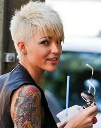 Pixie punk. Short on sides.