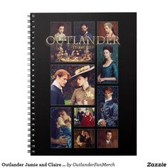 Outlander Jamie and Claire Season 2 Photomontage Notebook