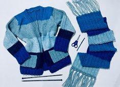 Cardigan Rose com Pérolas Knit Crochet, Knitting, Sweaters, Cardigans, Winter, Handmade, Fashion, Sweater Scarf, Easy Knitting Patterns