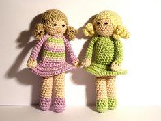 Ravelry: Doll crochet pattern: cute girl Giulia pattern by Idea Poppies