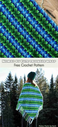 Nomad by Fate Triangle Wrap Free Pattern Nomad by Fate Triangle Wrap Free Crochet Pattern Apache Tears Pattern Crochet Shrug Pattern, Crochet Poncho, Crochet Blanket Patterns, Crochet Stitches, Free Pattern, Crochet Blankets, Afghan Patterns, Crochet Gifts, Cute Crochet