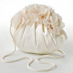 Gunne Sax by Jessica McClintock handbags at Kohl's - This shoulder bag features petals lining the edge and a satin construction. Shop our full line of Gunne Sax handbags at Kohl's. Handmade Purses, Leather Bags Handmade, Diy Bags Jeans, Diy Bag Designs, Lace Bag, Potli Bags, Bridal Clutch, Diy Purse, Denim Bag