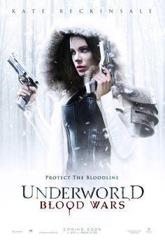 Il poster del film Underworld: Blood Wars (USA 2017) di Anna Foerster... #horror #movie