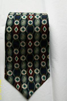 Vintage men's silk necties  Tradizini silk by NewtoUVintage