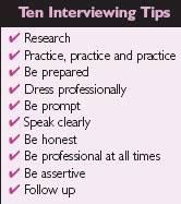 My best interviewing advice -- be prepared, know what you are going to say.