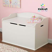 KidKraft Austin Wooden Toy Box - Vanilla