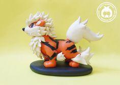 Arcanine - Pokemon clay figure handmade by Booshandmade on Etsy