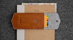 Pencil leather case / pen-box / pencil-box / by HANDWERS on Etsy