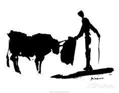 La corrida II Poster par Pablo Picasso sur AllPosters.fr