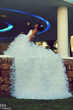 Looks just like a waterfall! Quince Dresses, Formal Dresses, Wedding Dresses, Berta Bridal, Bridal Gowns, Waterfall Wedding, Dream Dress, Ball Gowns, Dream Wedding