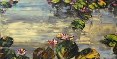 """""""Evening Time Lilies"""" Create Words, Maya, North America, Lily, Scene, Landscape, Artwork, Painting, Scenery"""