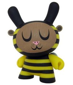 Kidrobot Dunny Series 2009 - Bumble Bee By Amanda Vissell