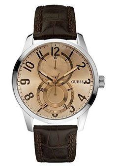 Guess Herren-Armbanduhr Analog Quarz Leder W95127G2 - http://autowerkzeugekaufen.de/guess/guess-herren-armbanduhr-analog-quarz-leder-4
