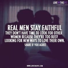 True love, cheating spouses, real men