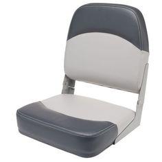 Folding Boat Seat Blue/& White Waterproof Speedboat Marine Fishing Camping Chair