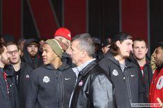 Photos: Ohio State's National Championship Celebration | Eleven Warriors - Evan Spencer, Urban Meyer, Joey Bosa, Ezekiel Elliot