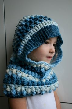 Crochet Pattern crochet hooded scarf pattern hooded by LuzPatterns #crochetpattern #crochet