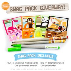 Go to www.SmanimalWorld.com to enter our free swag pack giveaway!!!