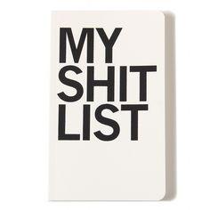 My Shit List Notebook #RadishUnderground #Raygun